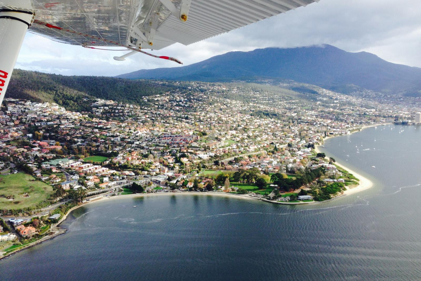 View From the Sea Plane in Hobart