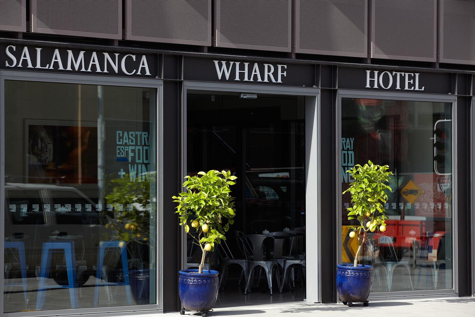Front Entrance to Salamanca Wharf Hotel