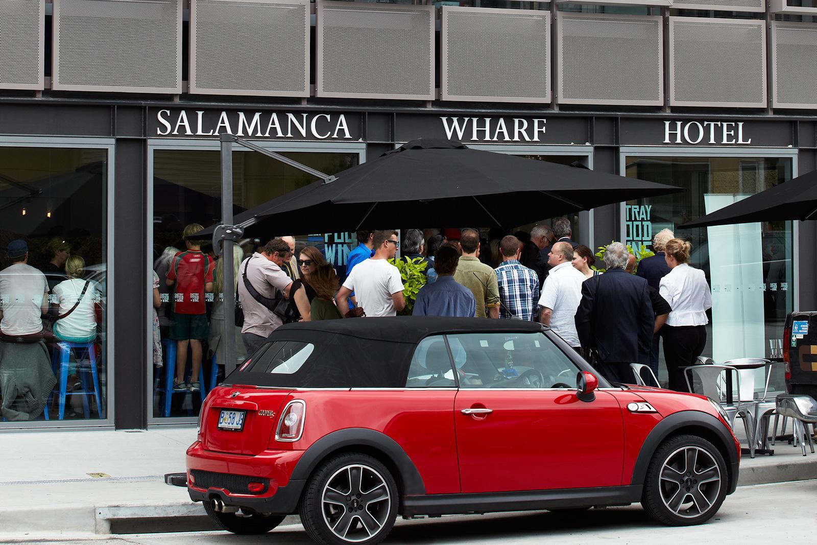 Opening party at Salamanca Wharf Hotel