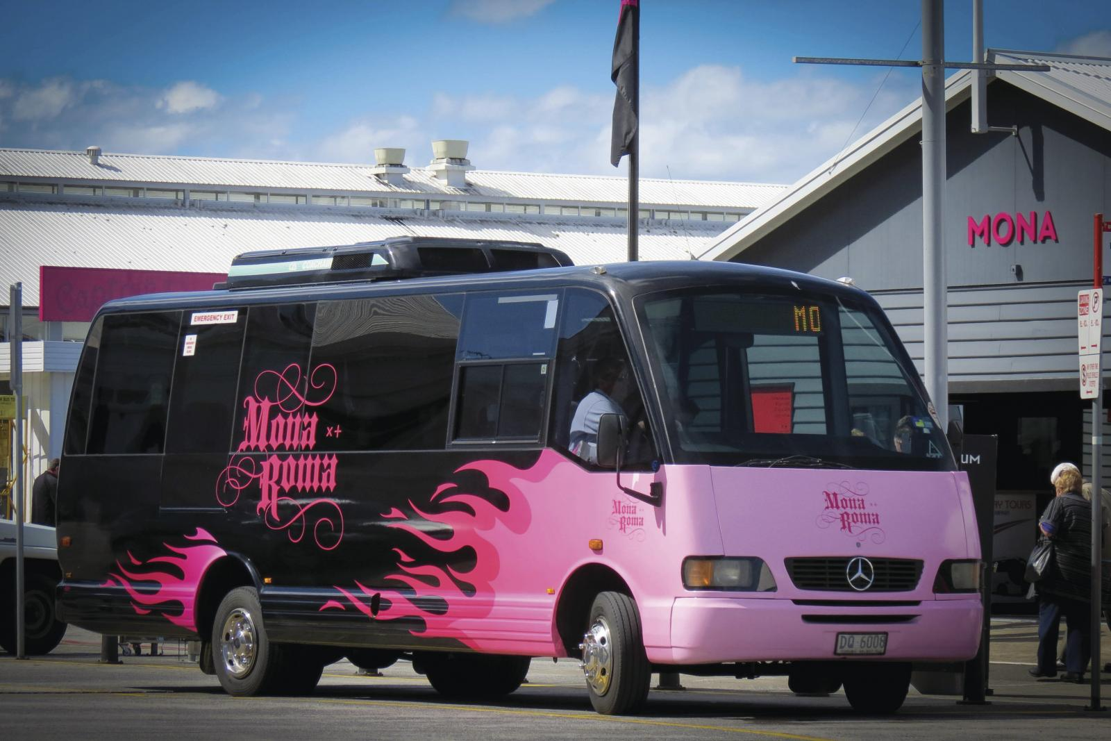 Taking the Bus to MONA from the Hobart Waterfront