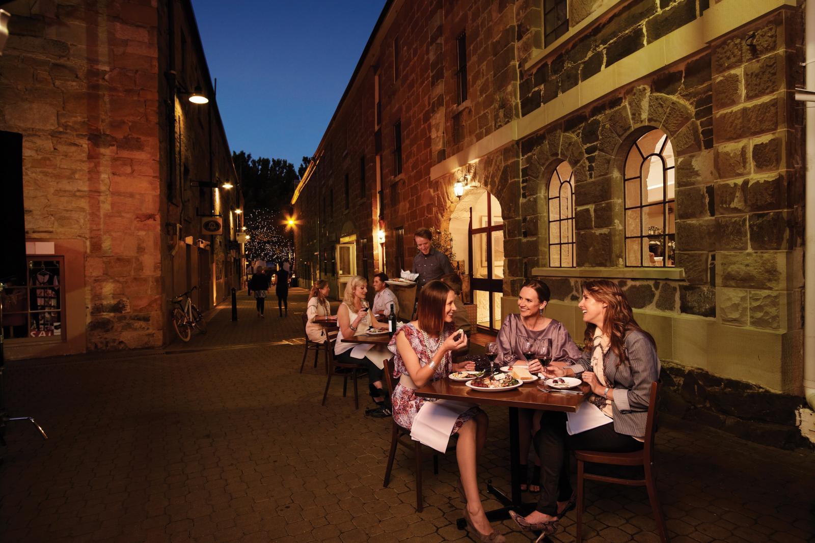Dining at Restaurants in Salamanca Hobart