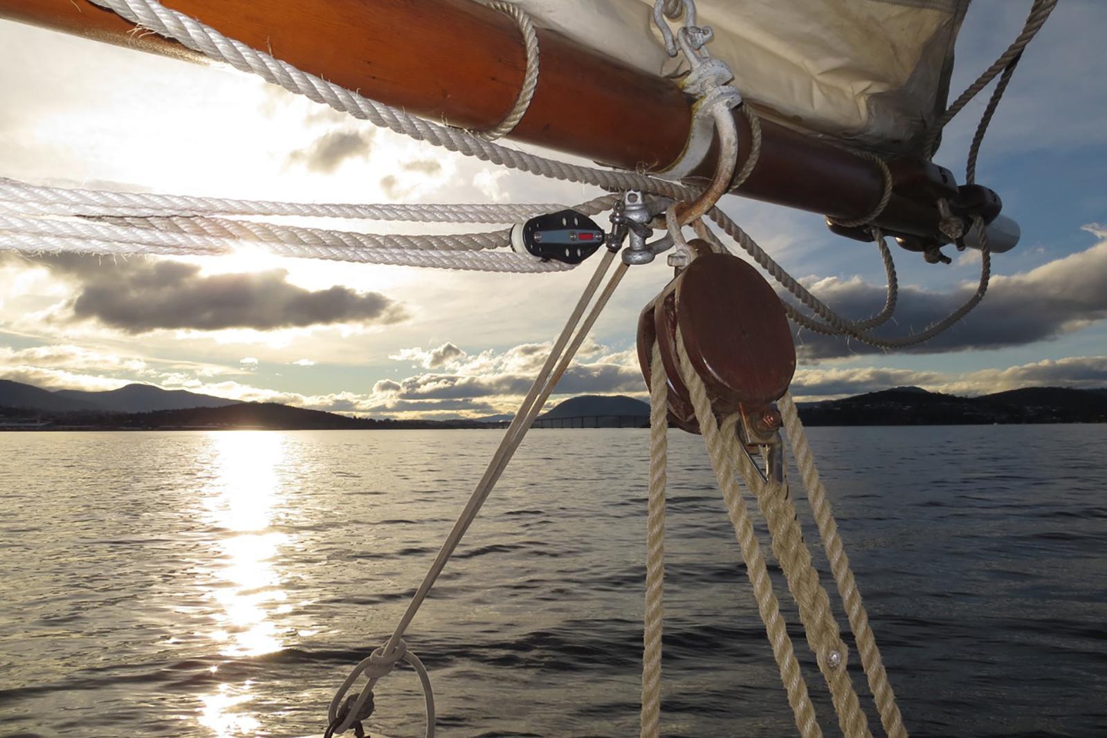 Sailing on the Derwent River Hobart Tasmania