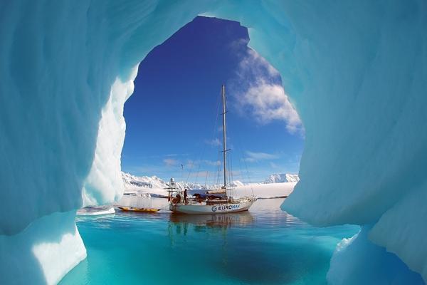 Sailing Ice Cave Antarctica