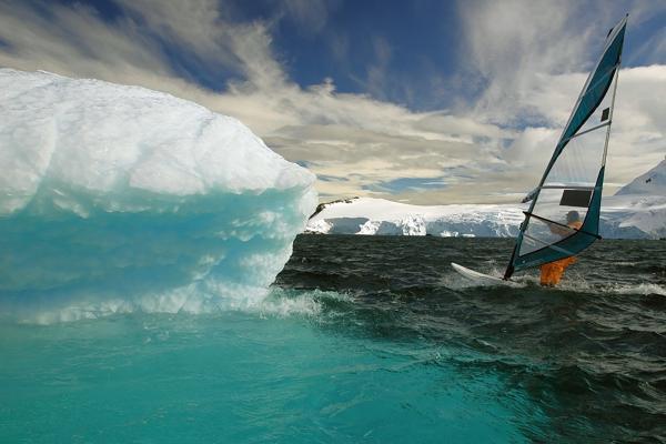 Windsurfing in Antarctica