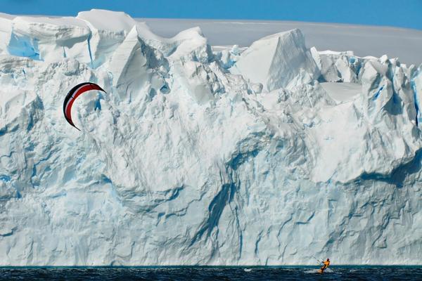 Kite Surfing in Antarctica
