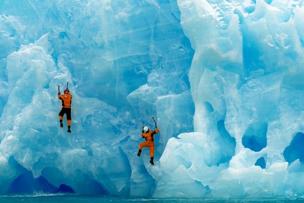 Climbing the ice in Antarctica