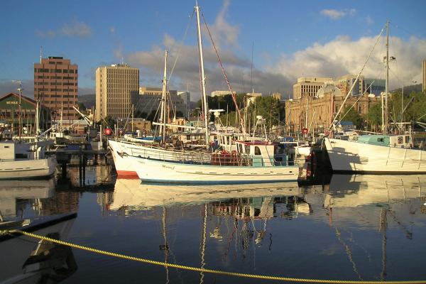 Fishing Boats in Hobart Tasmania