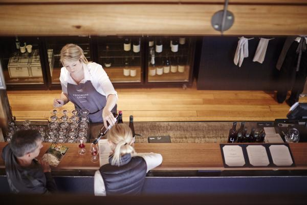Serving Wine at Frogmore Creek