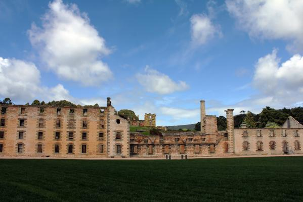 Convict Ruins and Port Arthur near Hobart