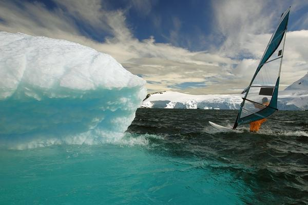 Windsurfing in Antarctica