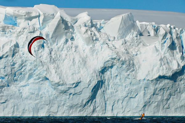 Kite Surfing in Antarctica