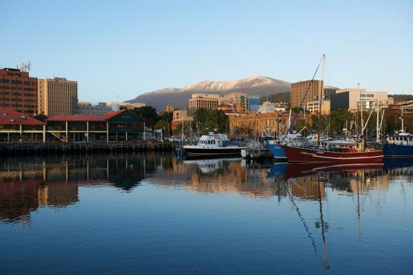 The waterfront in Hobart Tasmania