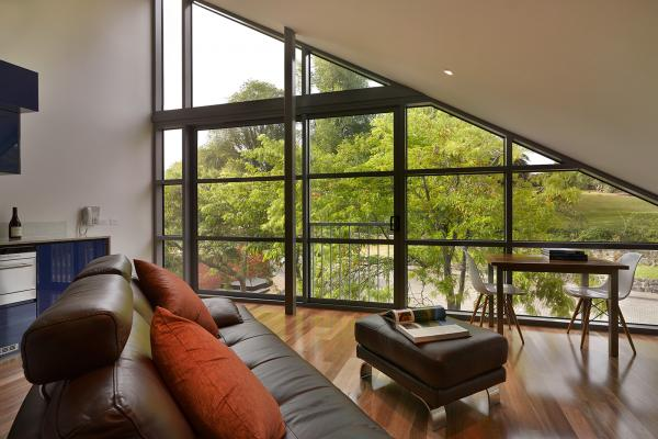 Spacious living area Loft Penthouse Salamanca Wharf Hotel