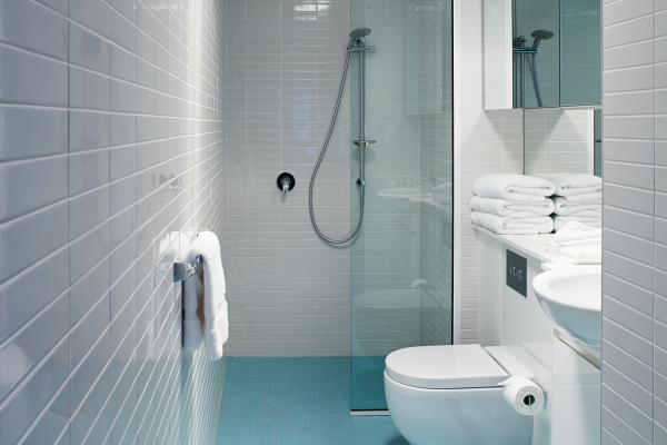 Bathroom in Studio Apartment Salamanca Wharf Hotel