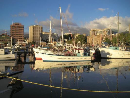 Fishing Boats in Hobart Tasmania