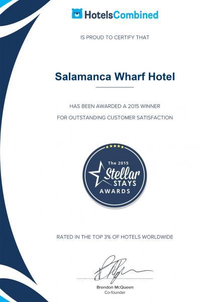 Salamanca Wharf Hotel Stellar Stays Winner